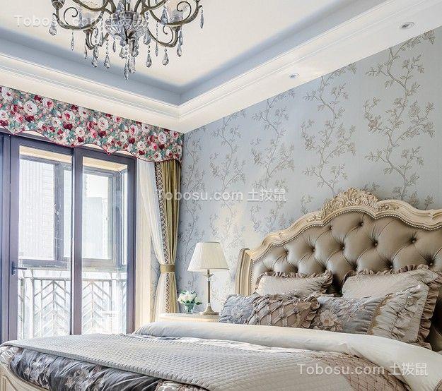 卧室彩色窗帘东南亚风格装潢设计图片