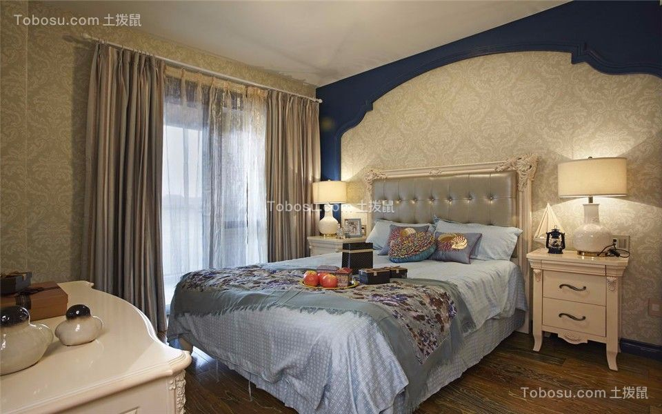卧室白色地中海风格效果图