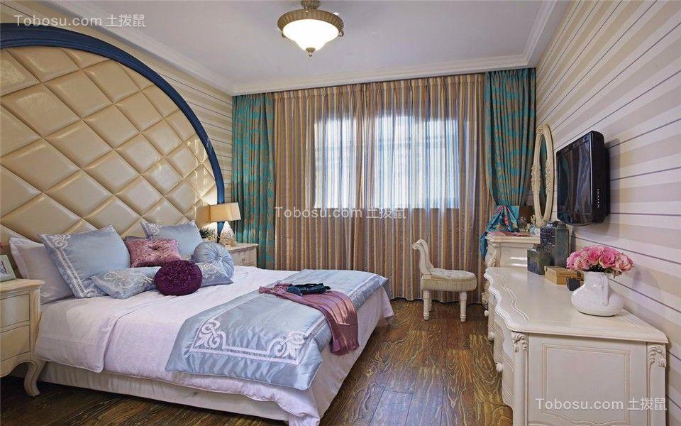 卧室绿色地中海风格装修效果图