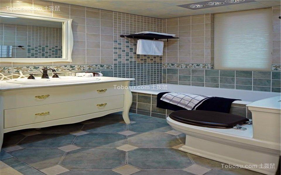 卫生间洗漱台地中海设计