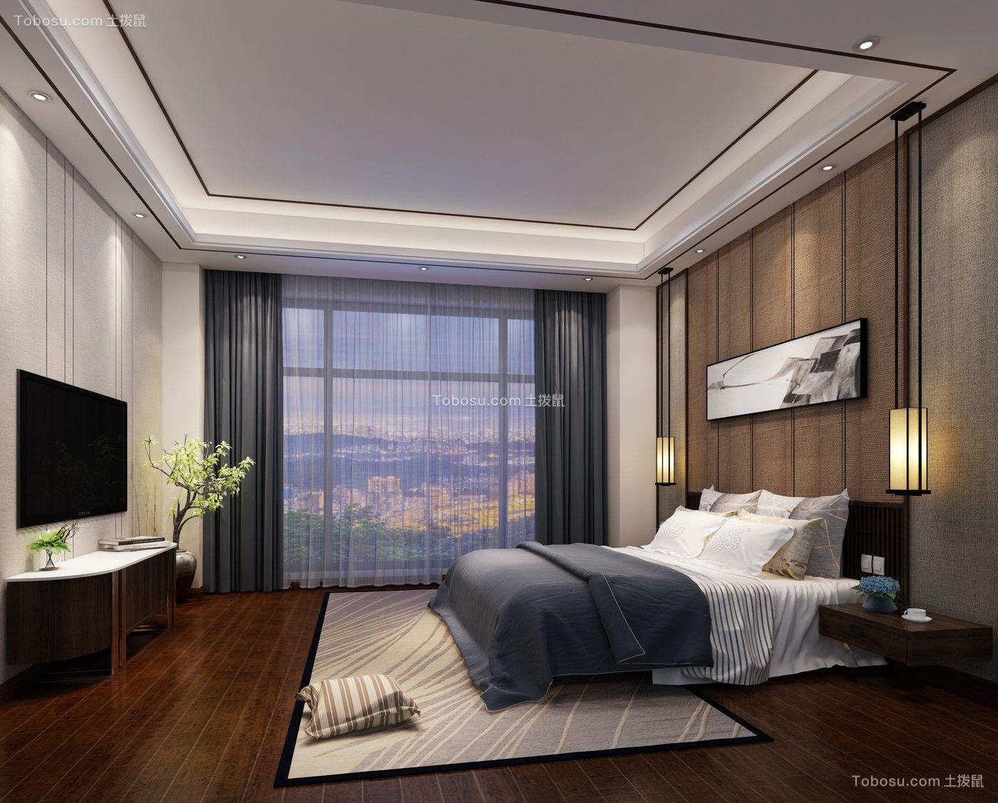 高贵风雅蓝色卧室装修案例