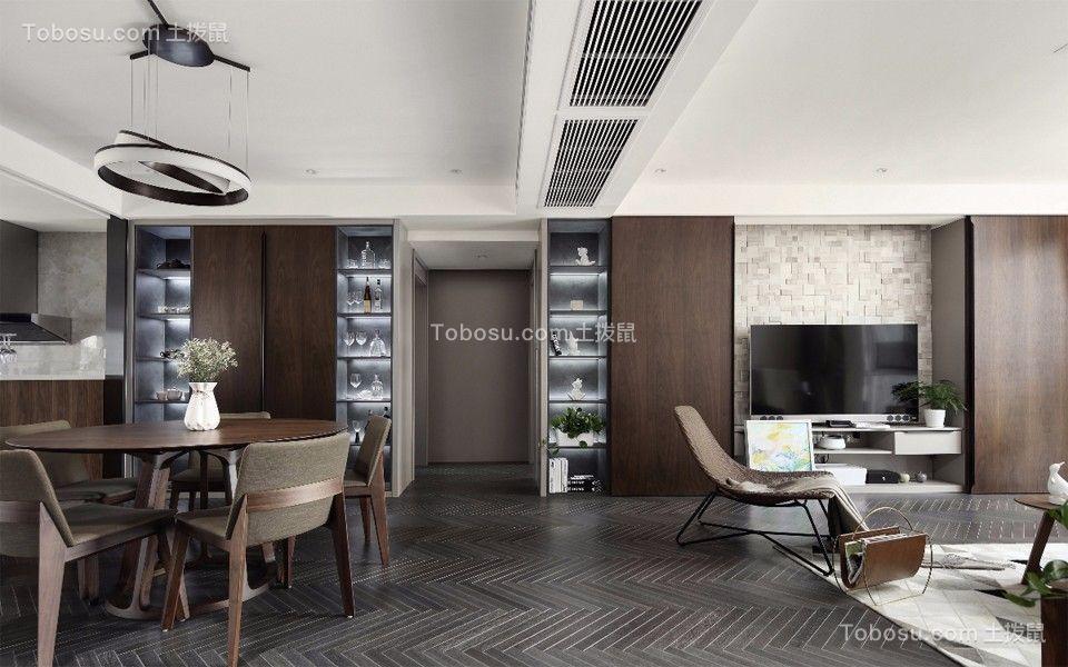 100~120m²/现代简约/套房装修设计