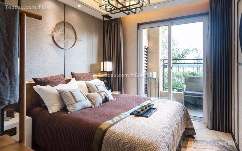 2019中式卧室装修设计图片 2019中式窗帘装修效果图片