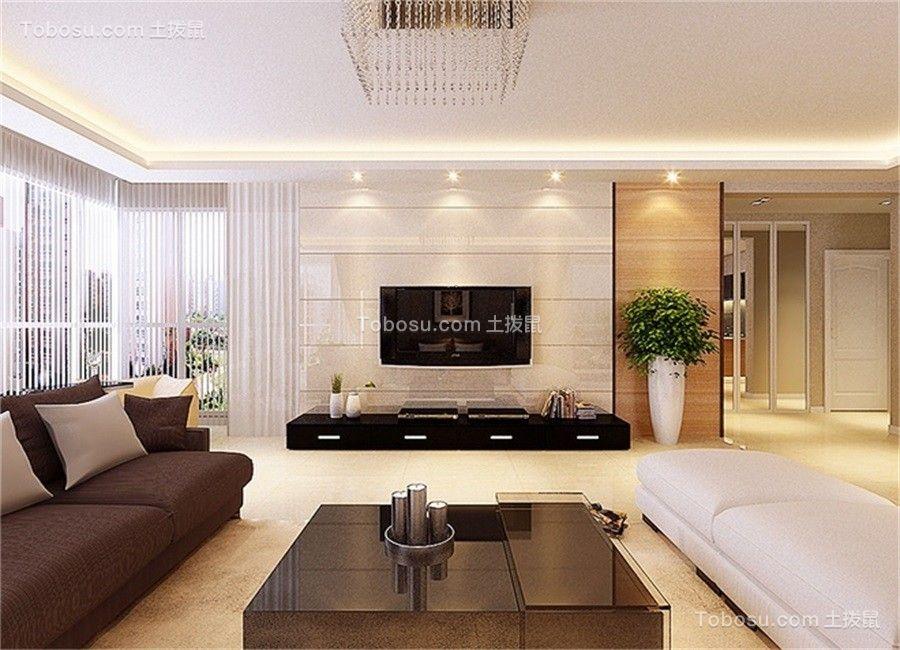 客厅黑色电视柜简约风格效果图