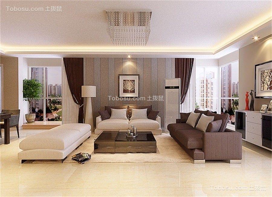 简约客厅地砖装修案例效果图