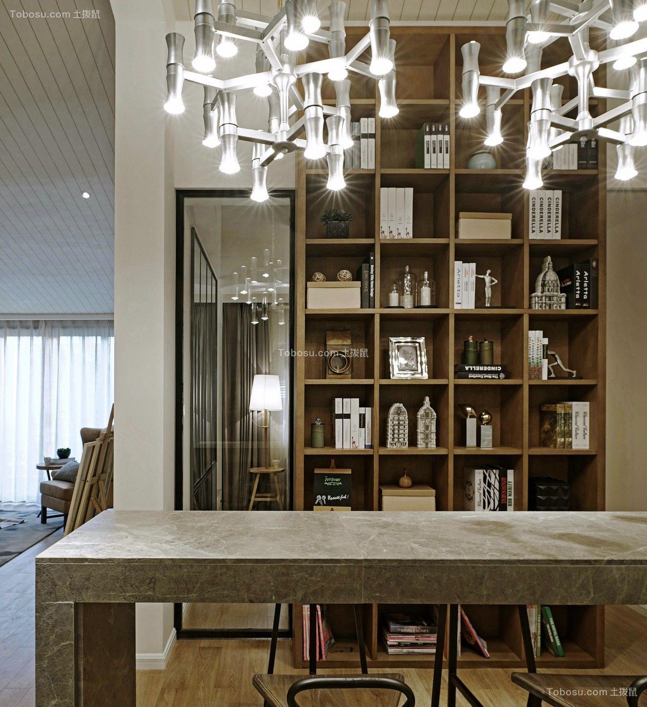 餐厅黄色餐桌现代风格装饰设计图片