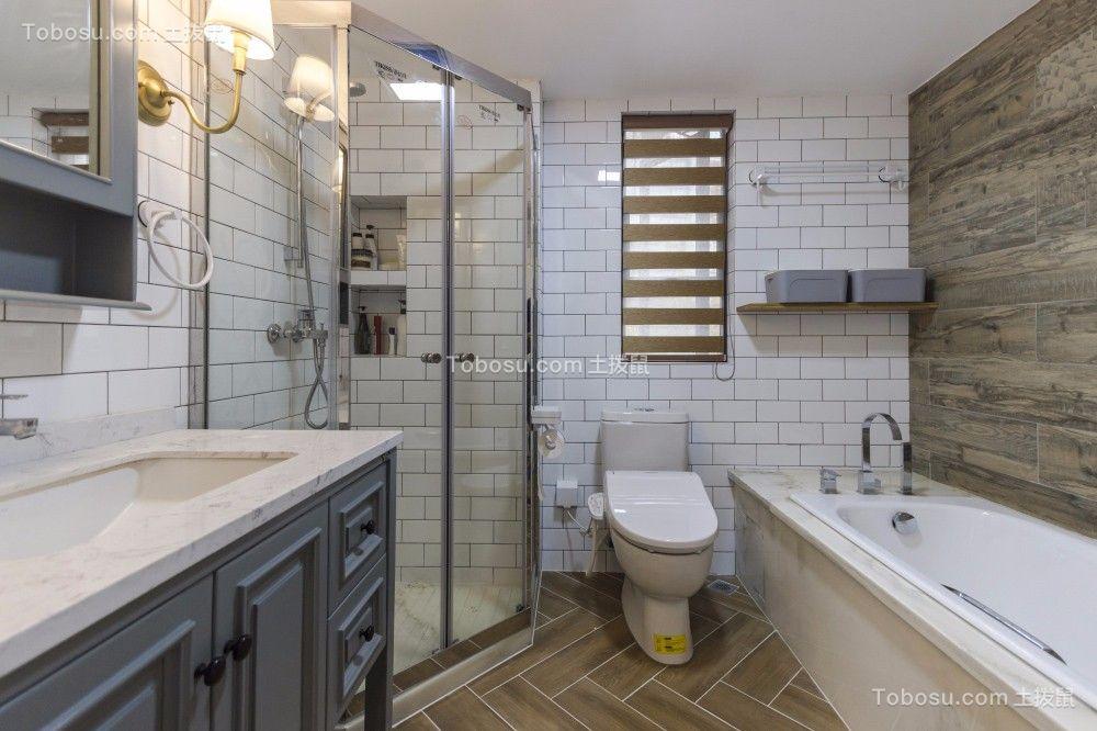 2019美式浴室设计图片 2019美式洗漱台装修设计