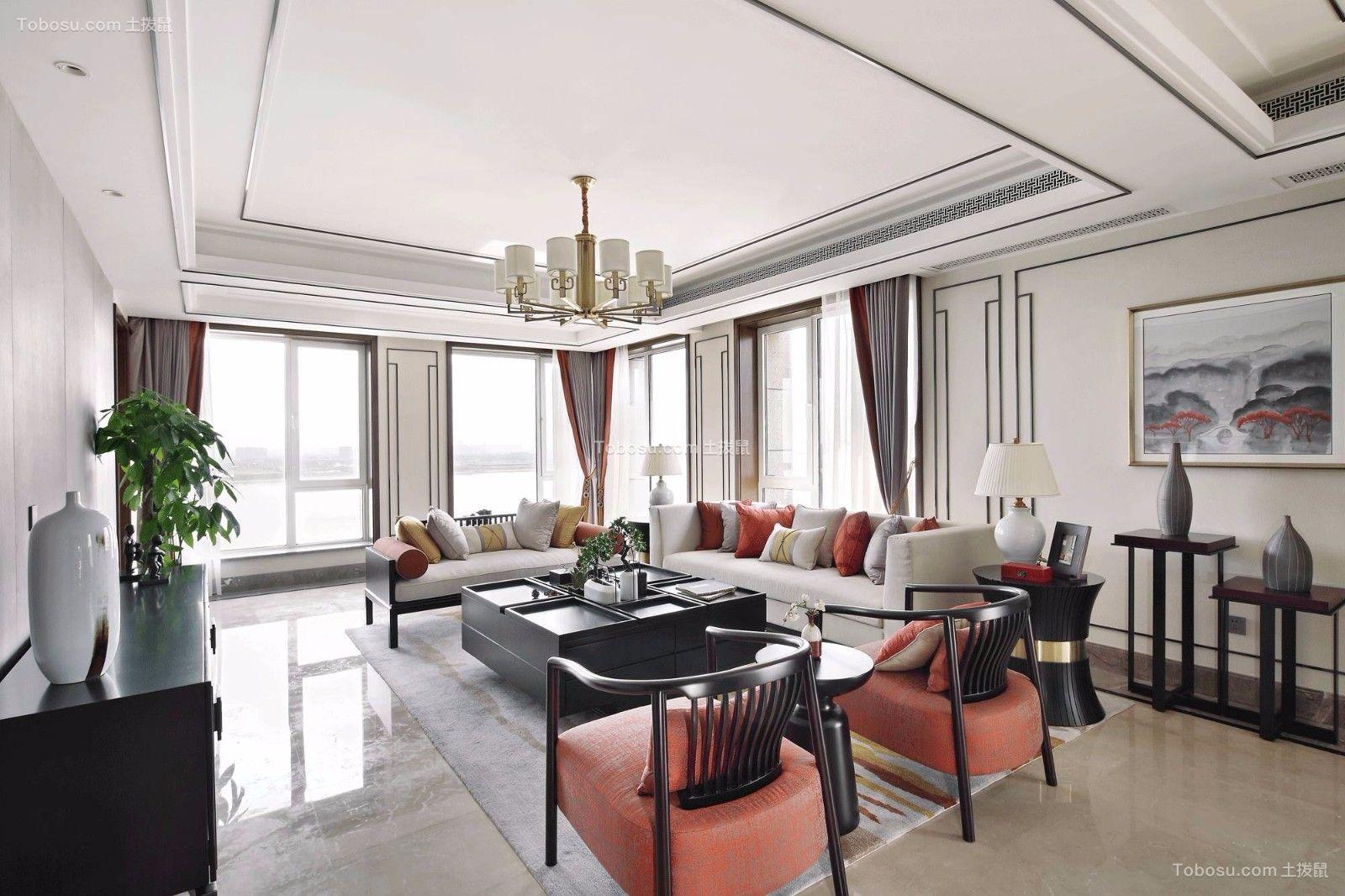 2019现代中式客厅装修设计 2019现代中式吊顶设计图片
