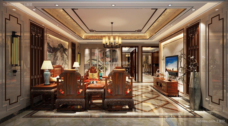 320平方中式新中式风格5室3厅装修效果图