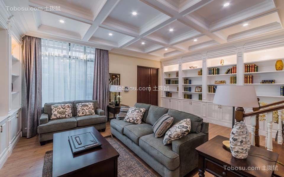 御景蓝湾三居室145平米美式风格装修效果图