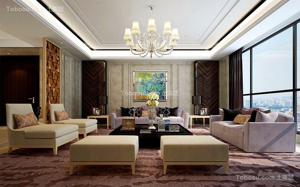 现代风格150平米两室两厅新房装修效果图