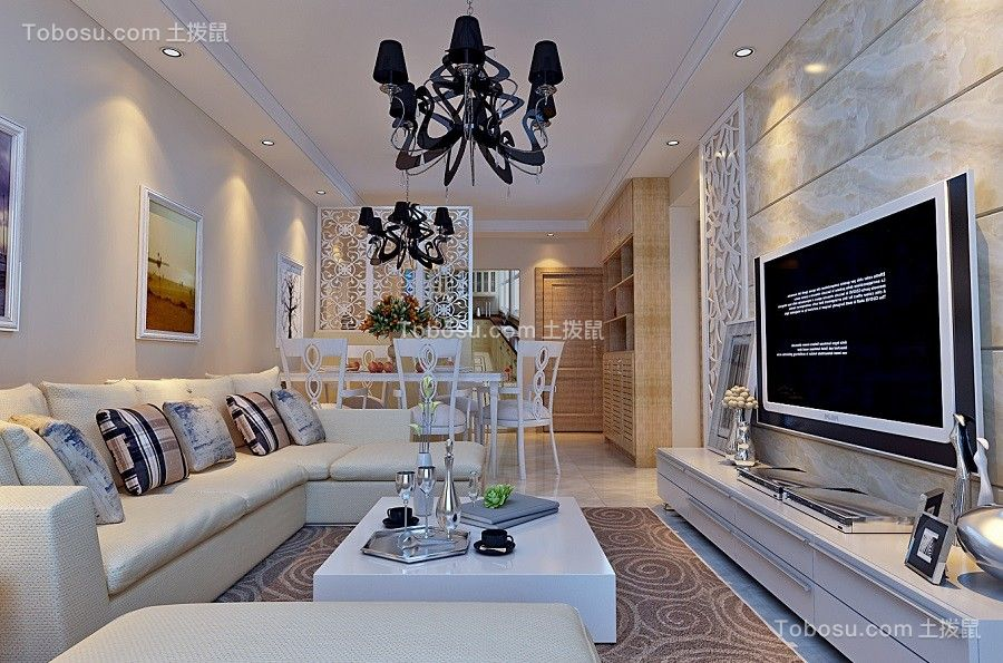 80~100m²/现代/套房装修设计