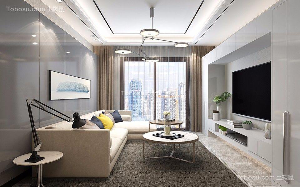 120平米现代简约风格三居室装修效果图