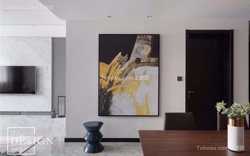 玄关白色门厅简约风格装潢设计图片
