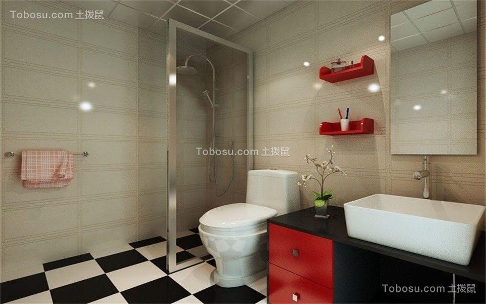 卫生间 洗漱台_东南亚风格118平米三室两厅新房装修效果图