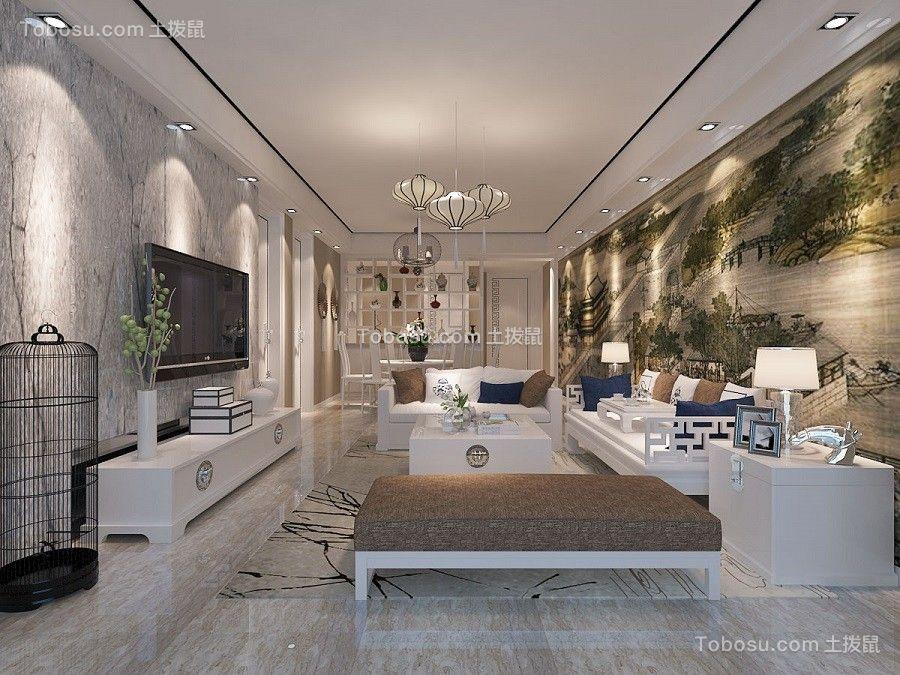 现代风格101平米三室两厅新房装修效果图