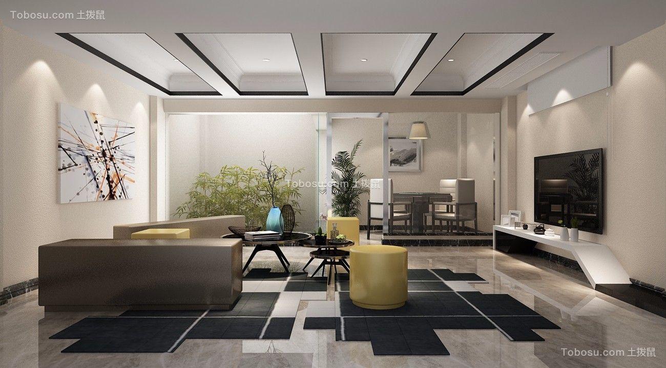 客厅吊顶新中式风格装潢设计图片图片
