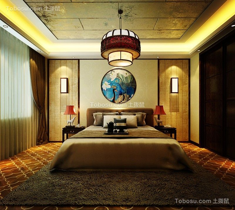 卧室咖啡色窗帘