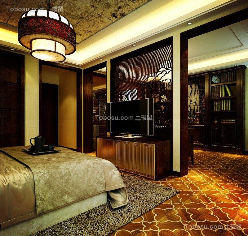 卧室黄色电视柜欧式风格装饰效果图