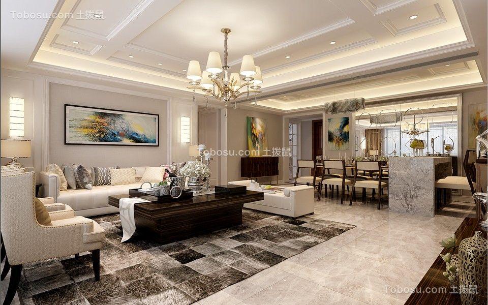 简约风格178平米四室两厅新房装修效果图