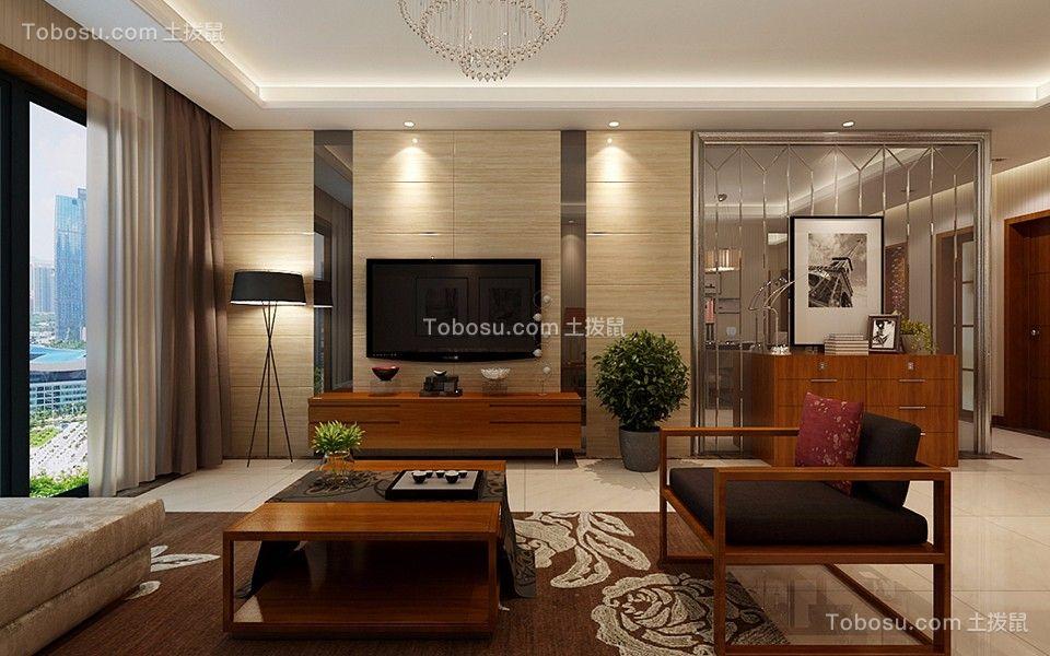 奢华客厅电视柜装饰实景图