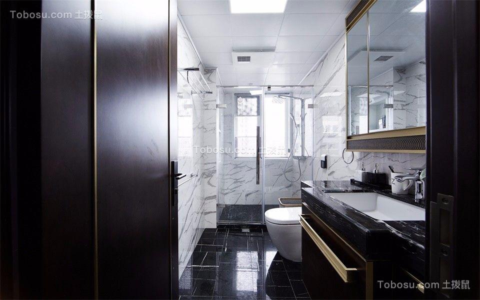 卫生间 洗漱台_中式风格125平米三室两厅新房装修效果图
