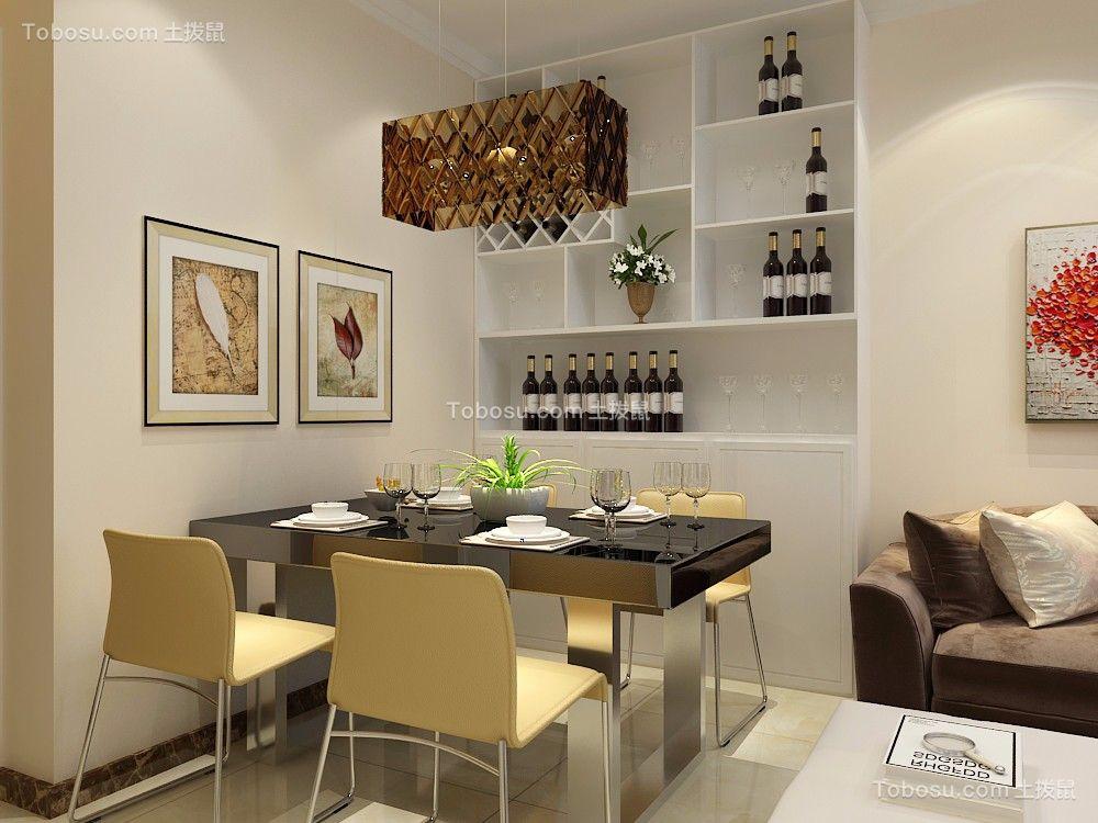 简欧风格120平米三室两厅新房装修效果图图片
