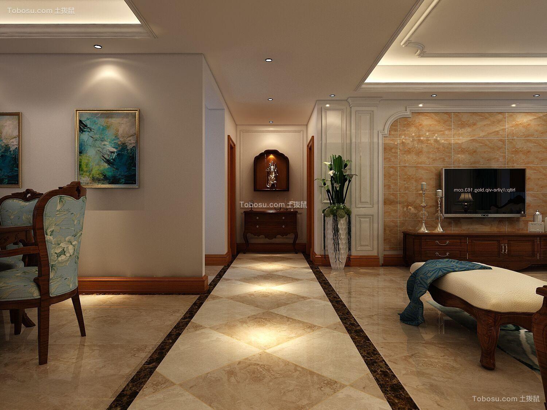 2018美式客厅装修设计 2018美式走廊效果图