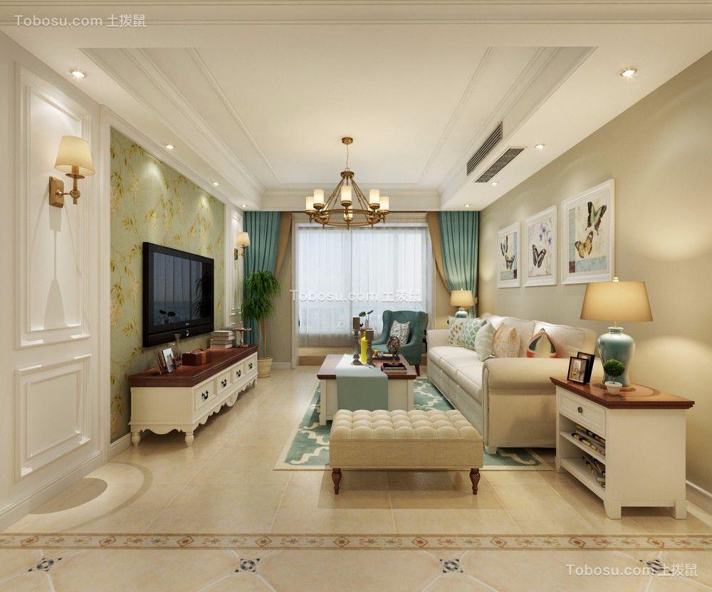 130平米光华里3室2厅美式风格装修效果图