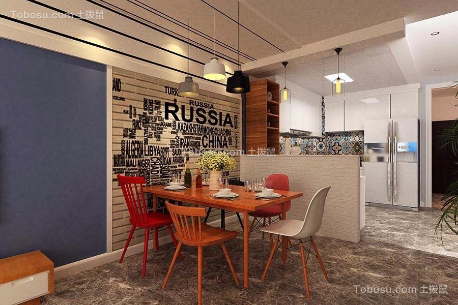 北欧风格134平米楼房室内装修效果图