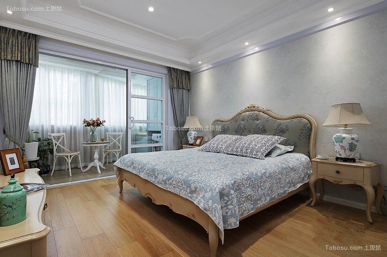卧室白色吊顶简欧风格装饰设计图片