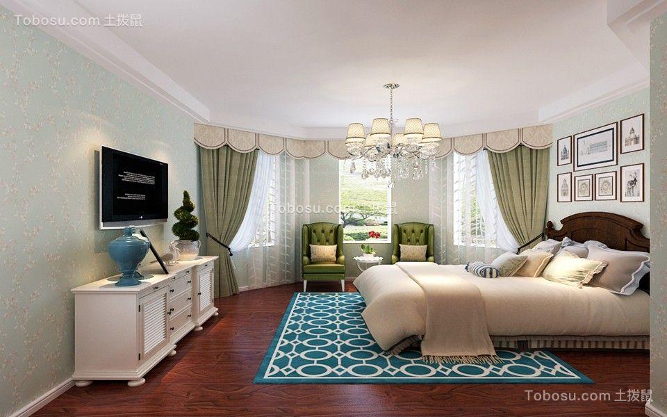 2019美式卧室装修设计图片 2019美式电视柜效果图