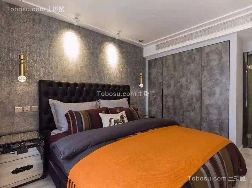 卧室白色床头柜现代风格装修设计图片