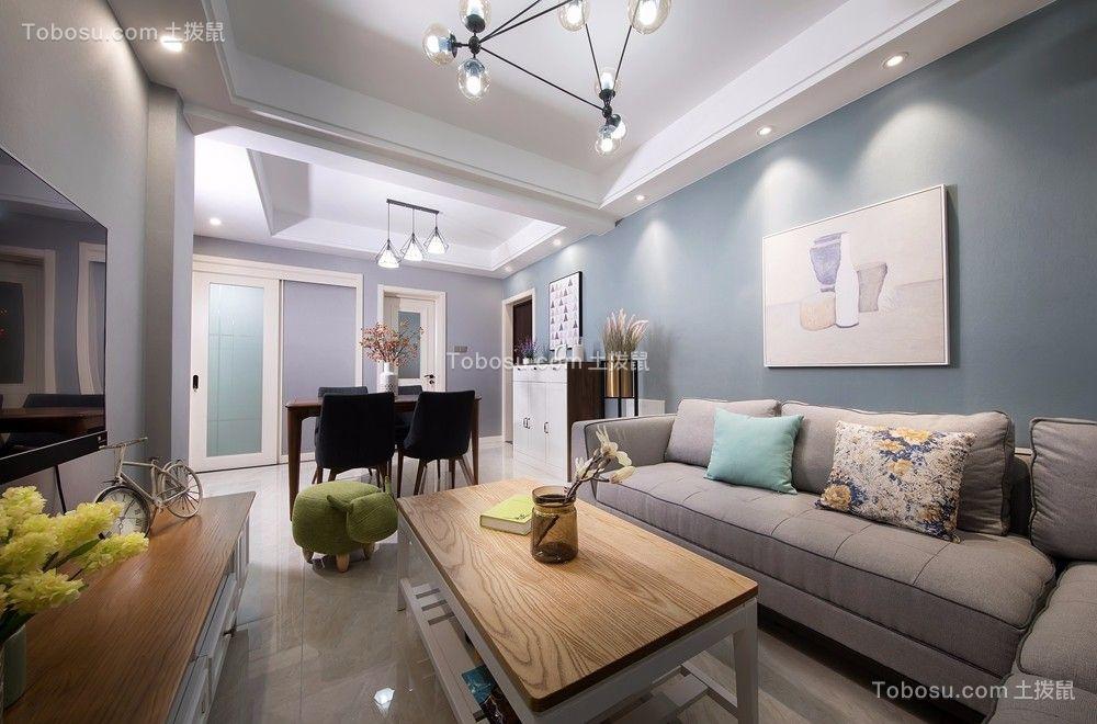 福润轩89平米两室两厅一卫简约风格实景图