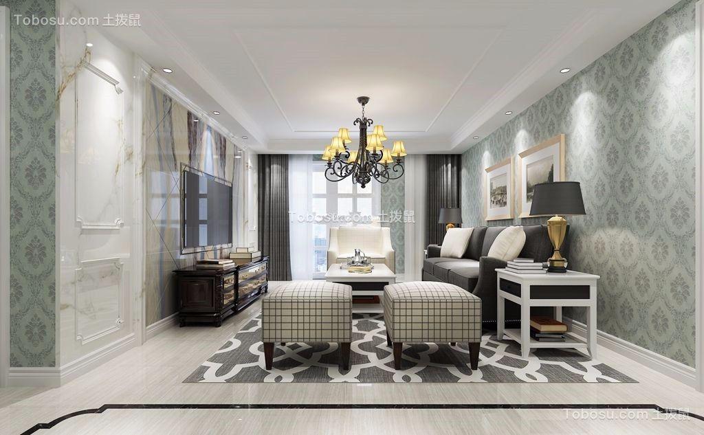 140平简欧风格客厅装修效果图