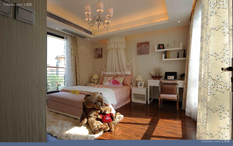 儿童房黄色窗帘新中式风格装潢效果图