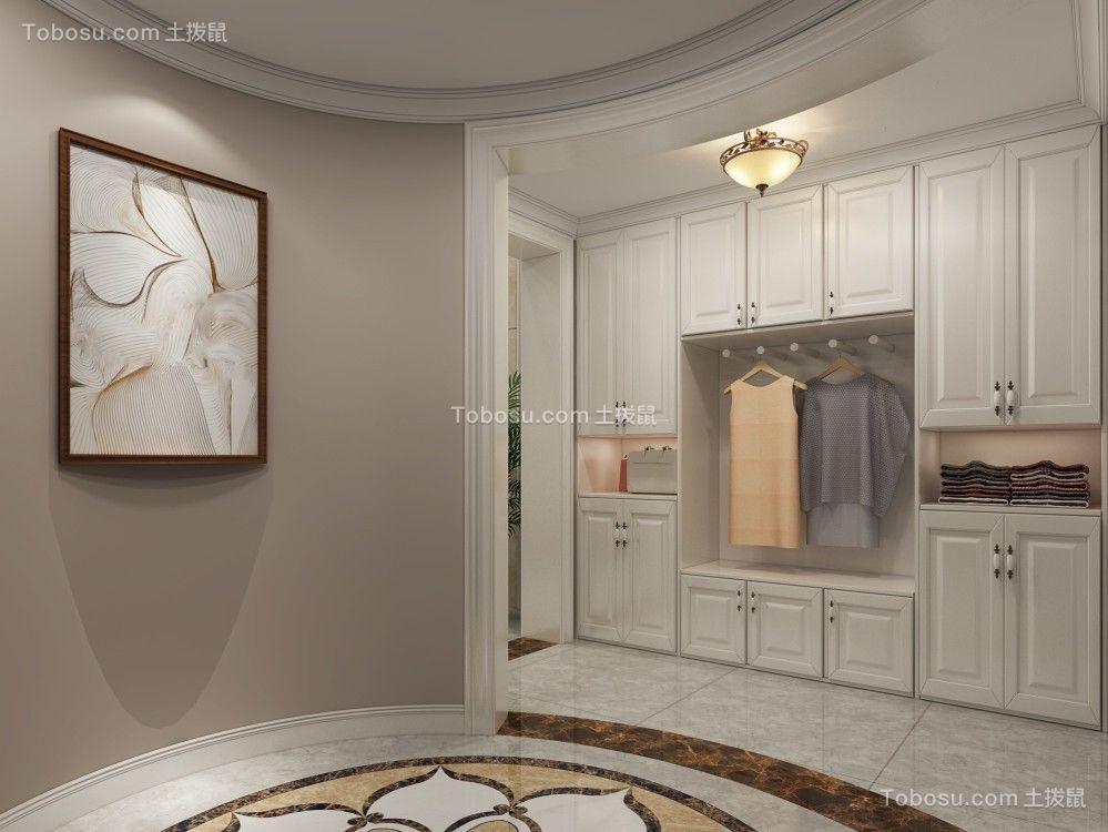 衣帽间白色衣柜现代简约风格装修图片