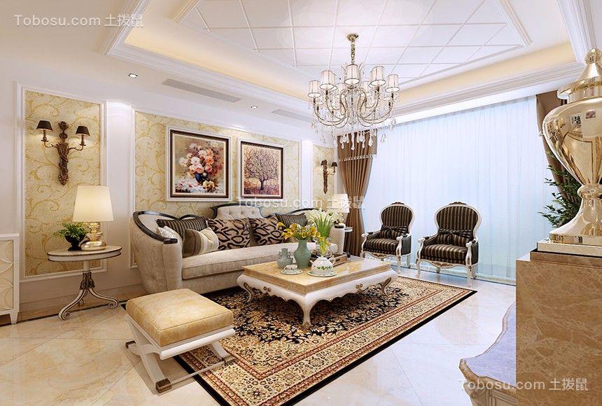 龙城龙府175平欧式风格4室2厅装修效果图