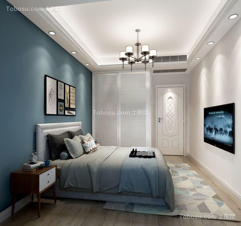 宁波中海国际社区110平米新中式风格效果图