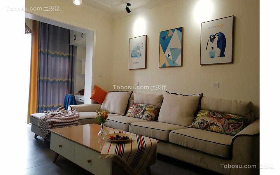 新中式风格140平米三室两厅新房装修效果图图片