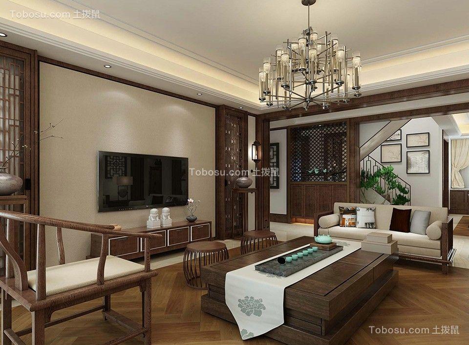 新中式风格134平米四室两厅新房装修效果图