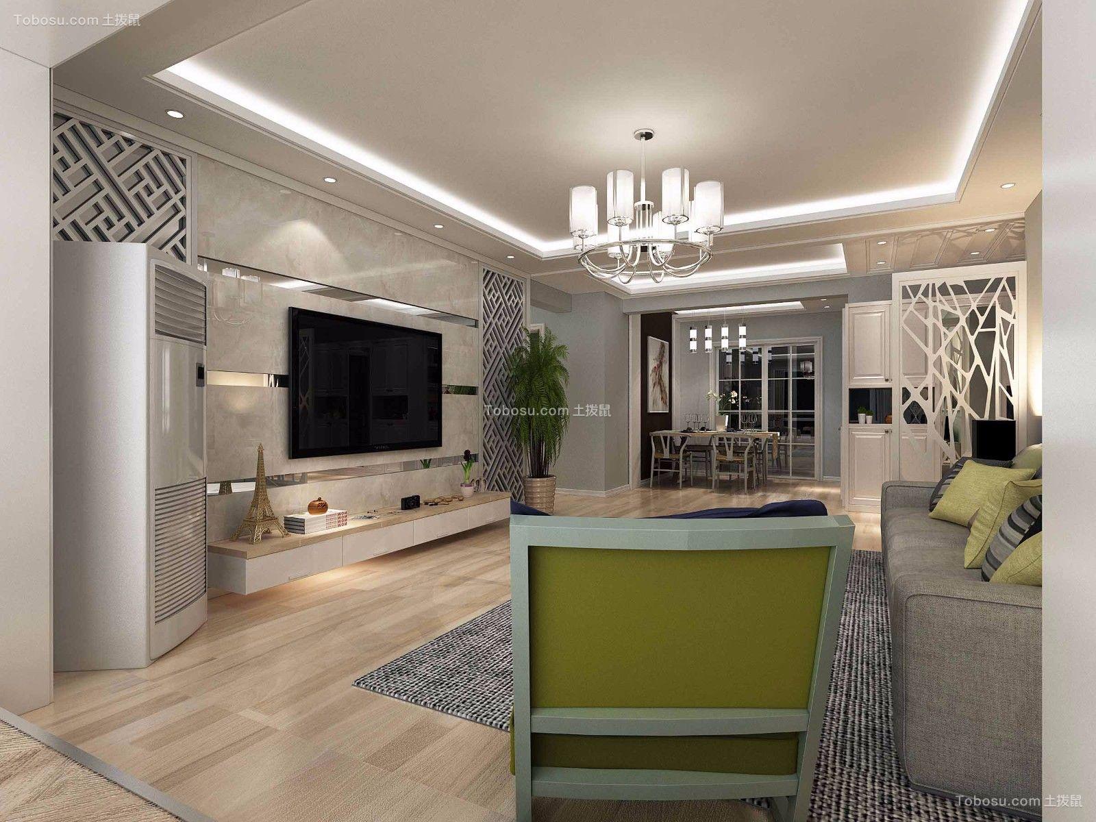 95㎡现代风格两居室装修效果图
