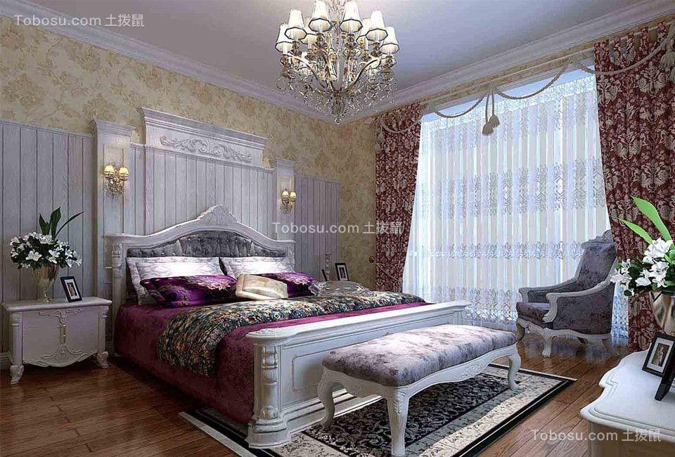 风雅欧式风格窗帘装饰实景图