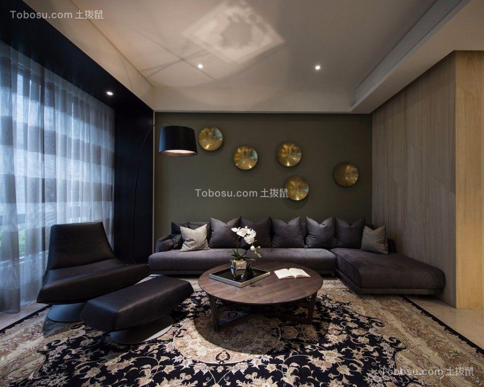 雅居乐108平中式风格二居室装修效果图