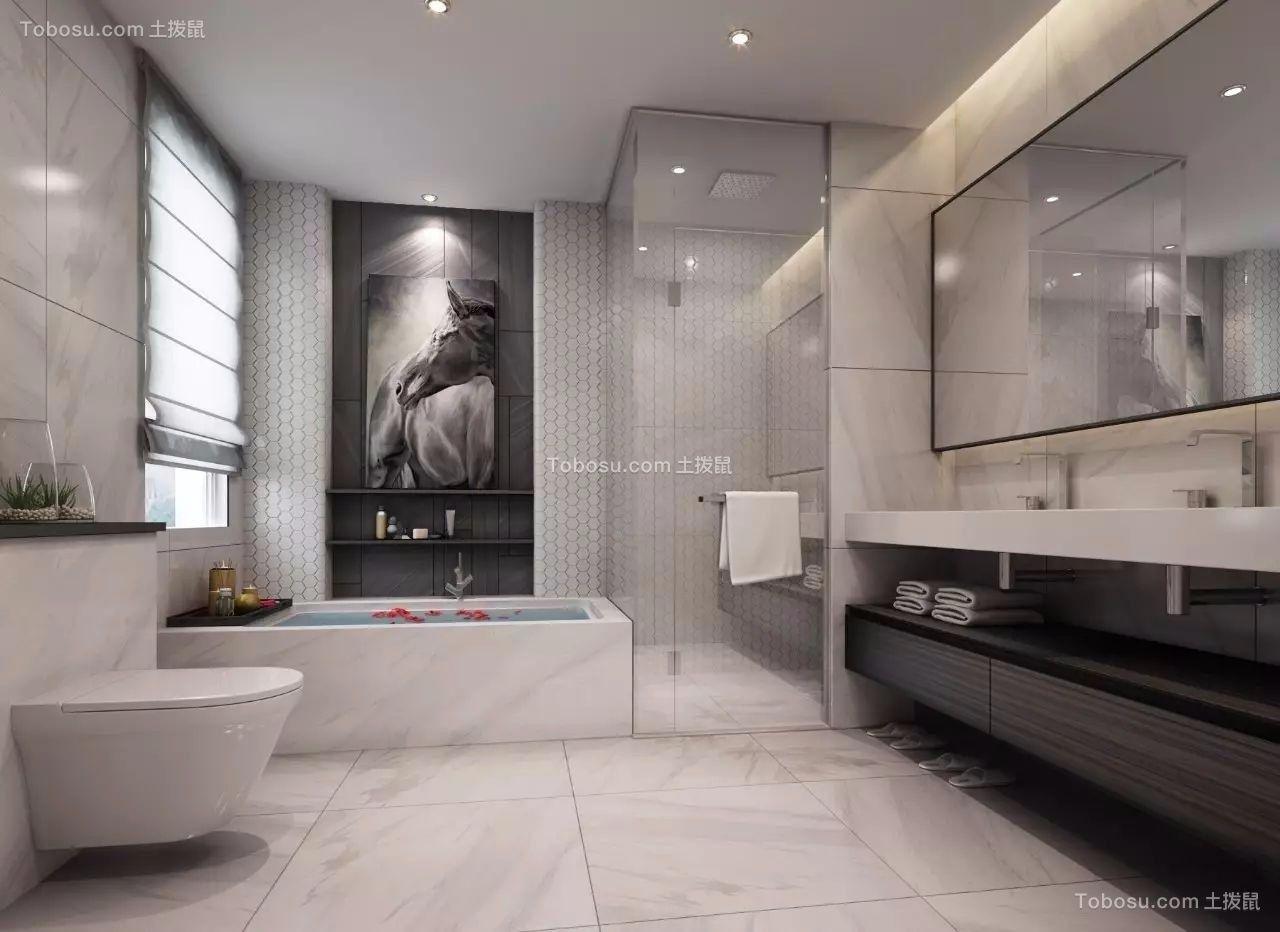 卫生间 洗漱台_现代风格380平米别墅新房装修效果图