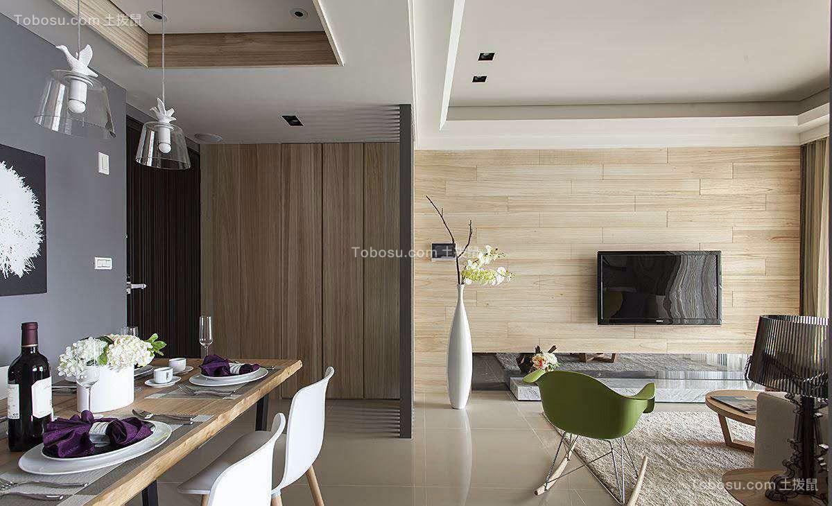 常州保利公园九里138平米美式三室两居装修效果图