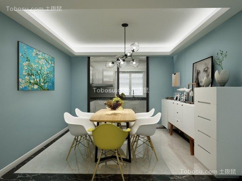 简约风格111平米三室两厅新房装修效果图