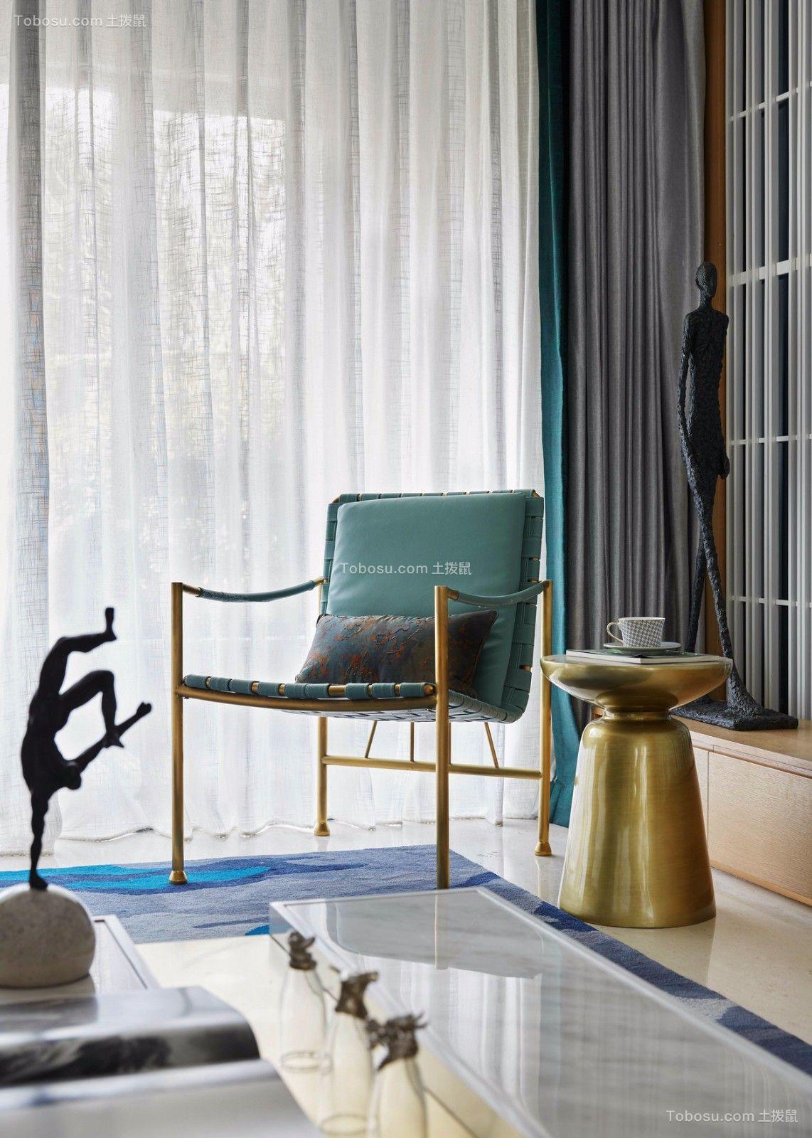 现代客厅窗帘装潢设计图片