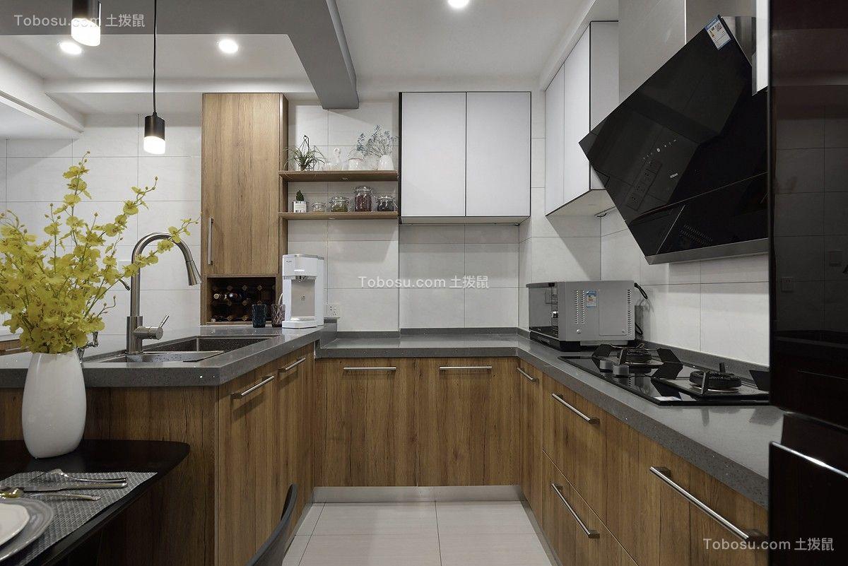 现代简约风格80平米两室一厅新房装修效果图