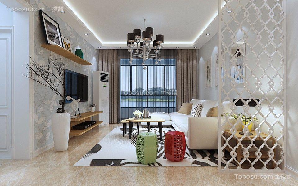 北欧风格130平米三室两厅新房装修效果图